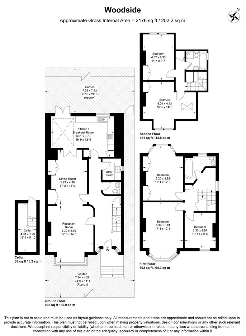 Floorplan for Woodside, Wimbledon